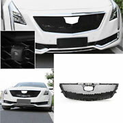 For Cadillac Ct6 2016-2018 Abs Black Front Honeycomb Grille Grill Cover Trim 1x