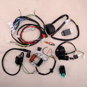Cdi Wire Harness Stator Solenoid Assembly Wiring Kit Fit For 50cc-125cc Atv Quad