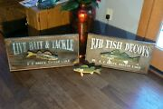 F J Bruce Hand Made Perch Fish Spearing Decoy 10.5 Long