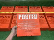 125 Qty Huge Lot- Posted Private Property No Hunting Trespassing Hard Plastic