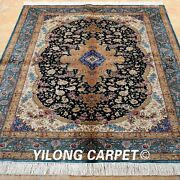 Yilong 4and039x6and039 Handmade Silk Area Rug Vintage Oriental Living Room Carpets 1947