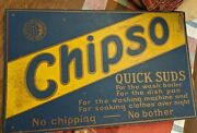 Vintage Proctor And Gamble Chipso Soap Flakes Advertising Sign Cardboard Display