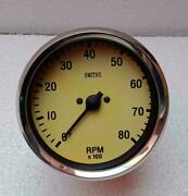 Classic Magnolia Smiths Replica 100 Mm Mechanical Tachometer Clock Wise