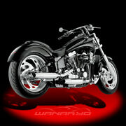 2-into-2 Staggered Internal Disc Exhaust System For 1986-1994 Harley Softail