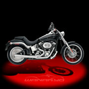 Supertrapp 2-into-1 Supermeg Exhaust Systemchrome For 2012-2013 Harley Softail