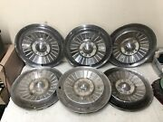 1950's Ford Hub Caps 13 Set Of 6 Wheel Covers Hubcaps 1956 1957 Vintage