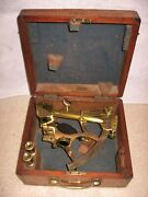 Antique Sextant Special Order Made In England For S Thaxter And Son Boston Usa