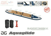Aquaglide Blackfoot Tandem I-sup 14and039 Paddleboard Inflatable Package 58-5617114