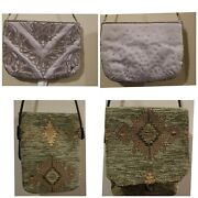 Lot Of 15 Vintage Purses Clutch Beaded Draw String Clasp Beautiful Antique