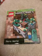 New Lego 21102 Minecraft Micro World The Forest Steve And Creeper