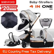 Ce Standard Luxury High Landscape Stroller Gold Frame 0-3 Years Old Baby 4 In 1