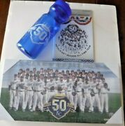 Kansas City Royals 50 Season All Time Team Canvas Sga W/ Booklet And Water Bottle