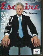 Bill Clinton Signed Esquire Magazine 12/20 Autographed President Psa/dna Af06059
