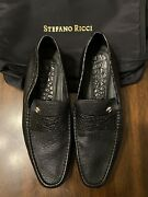 New 2,500 Stefano Ricci Luxury Loafers - Crocodile And Deer - Size 10.5us W/bag