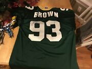 Gilbert Brown Autographed Green Bay Packers Jersey 93 Super Bowl Champion Xl 48
