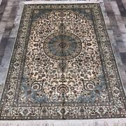 Yilong 4and039x6and039 Antique Handmade Silk Carpet Indoor Oriental Area Rug Wy340a
