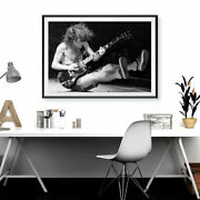 Angus Young Acdc Music Poster Canvas Art Wall Home Decor