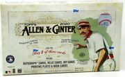2020 Topps Allen And Ginter Baseball Hobby 12 Box Case Blowout Cards