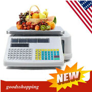 66lbs/30kg Print Electronic Scale Digital Price Computing Scale Thermal Printer