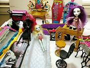 Monster High Doll Lot Of Dolls And Furniture 18 Pieces 2 First Wave Mattel