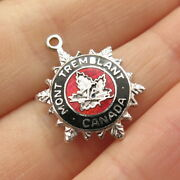 925 Sterling Vintage Breadner And Co Enamel Mont Tremblant Canada Charm Pendant
