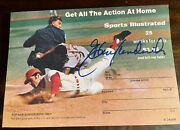 Elrod Hendricks - Orioles Signed On A Sports Illustrated Subscription Card 1971