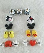 Vtg Rare Mickey/minnie Mouse Icon Ceramic Beads Disney Parks Exclusive 17pieces