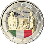 [795881] Italy, 2 Euro, Constitution Italienne, 2018, Colourized, Ms63
