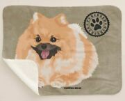 Puppies Rule Pomeranian Dog Purebred Brown Sherpa Fleece Throw Blanket