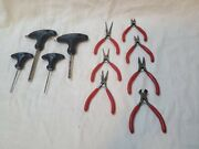 Mac Tools Used Lot Of T-handle Hex And Mini Pliers