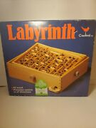 Vintage Labyrinth Wooden Puzzle Maze Game Wood . Skill Game Has Original Balls