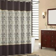 Sdliving Sterling Brown Shower Curtain,chocolate Polyester Fabric Shower Curtain
