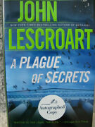 A Plague Of Secrets By John Lescroart 2009 Hardcover Signed 1st Printing