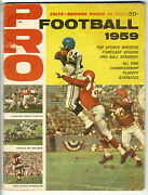 Nfl And039and039proand039and039 Magazine 1959 Football Yearbook