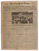 Fdr's Funeral Covered In 16 April 1945 ''new York Times''