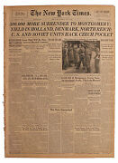 5 May 1945 ''new York Times'' Wwii Europe Ending