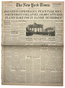 4 May 1945 New York Times German Northern Front Ends