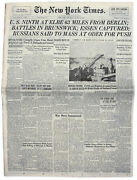 ''the New York Times'' From 12 April 1945