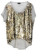 Cher Personally Worn Gold Sequin Blouse