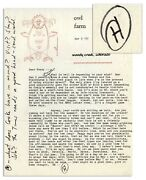 Hunter S. Thompson Letter Signed Re Woody Creek Co