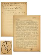 Hunter S. Thompson Letter Signed Re Buying A Pistol