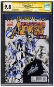 Avengers Prime Comic 1 Cgc 9.8 Signed By Chris Evans And Hemsworth Stan Lee Etc