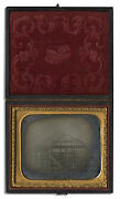 1800's Ambrotype 6th Plate Architecture Photo Building