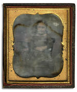 Sixth Plate Daguerreotype Little Girl Photo Photograph Full Case Young Child 6th