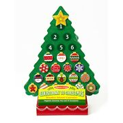 Melissa And Doug Countdown To Christmas Wooden Advent Calendar - Magnetic Tree