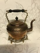 Antique/vintage Andrews Andco Copper Kettle/collectable Metal Brass Owl Trivet