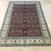 Yilong 4.5and039x6.5and039 Red Handmade Silk Area Rug Home Decor Indoor Carpet 202a