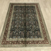 Yilong 4and039x6and039 All Over Handmade Silk Area Rug Kid Friendly Oriental Carpet 040b