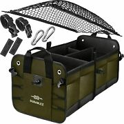 Large Capacity Very Durable Cargo Car Trunk Storage Organizer W/net Lid And Straps