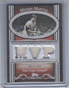 2007 Topps Sterling Baseball Mickey Mantle Jersey Relic Card 1/1